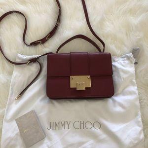 Burgundy Jimmy Choo Crossbody